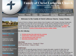 Family of Christ Lutheran Church website